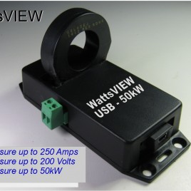 WattsVIEW 50KW 250A DC Power Monitor